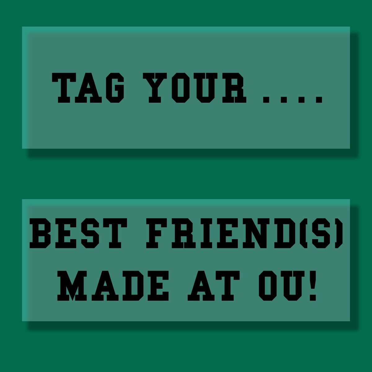 We all know someone who impacted us at OU. Tag them below! https://t.co/0lvJ975LDz
