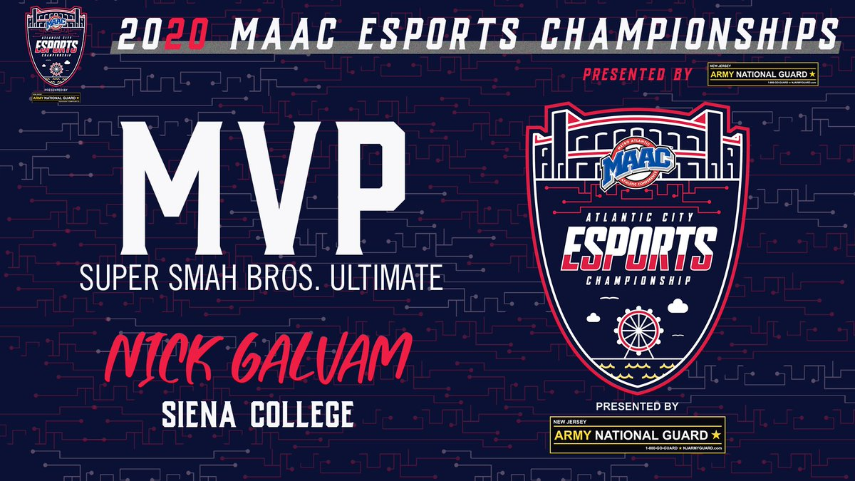 They call him 'Knight' Nick Galvam of @EsportsSiena is the 2020 #MAACEsports #SSBU MVP!