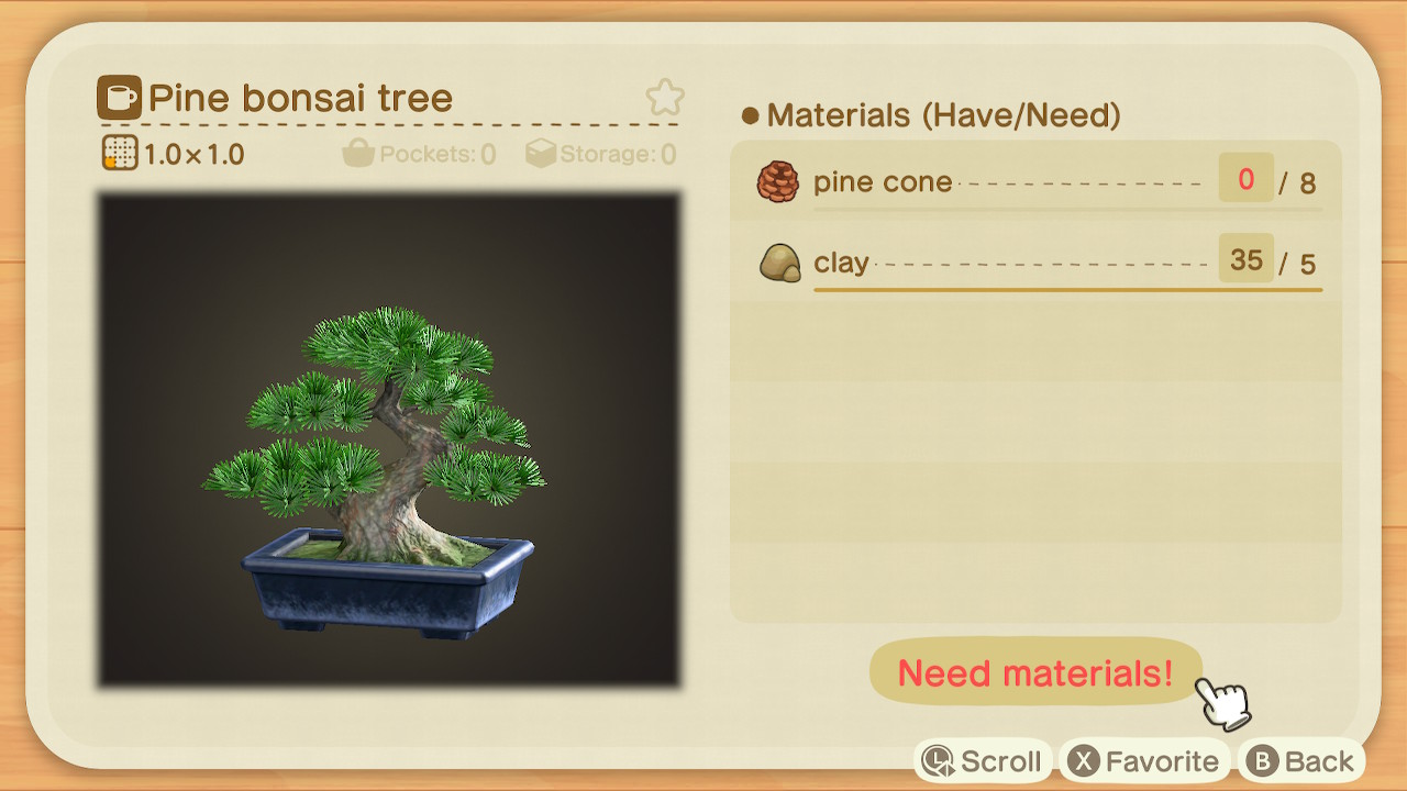 Beatrice On Twitter Omg I Found The Pine Bonsai Tree Diy 0 Animalcrossing Acnh Nintendoswitch