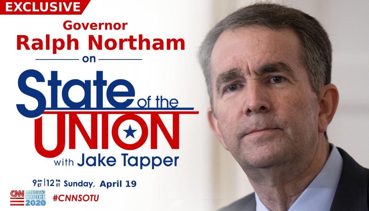 EXCLUSIVE: @GovernorVA @RalphNortham joins @jaketapper on #CNNSOTU. https://t.co/zsS3IOa6dQ