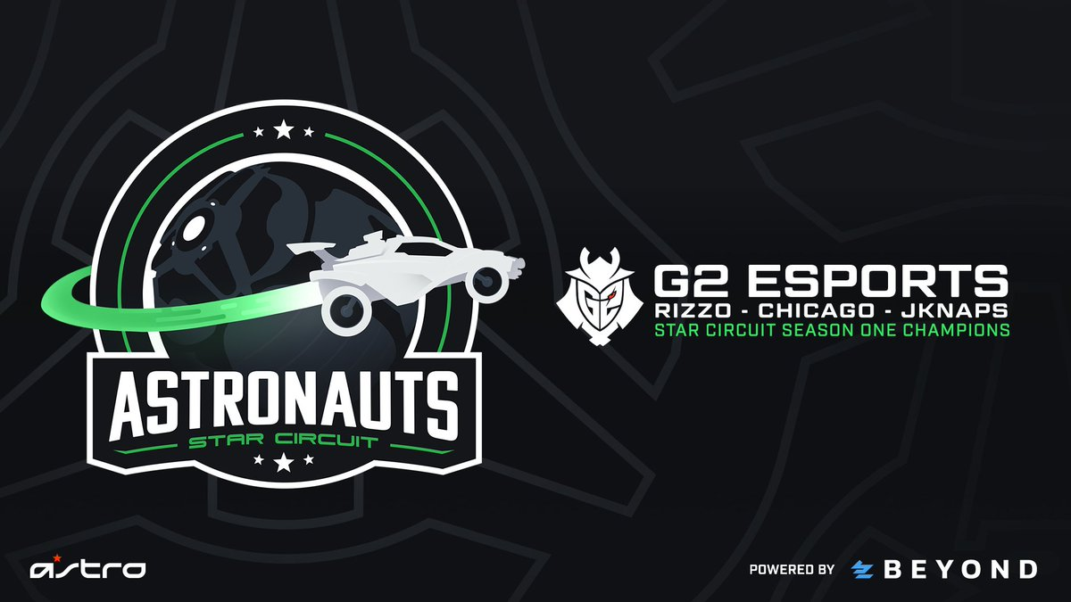 Congratulations to @G2esports, CHAMPIONS of the first ever #ASTRONAUTS Star Circuit season!  🏆 @Rizzo_TV  🏆 @Chicago_RL  🏆 @JKnaps   GGs to the squad, we'll see you again in Season 2! https://t.co/zHr93dOZJk