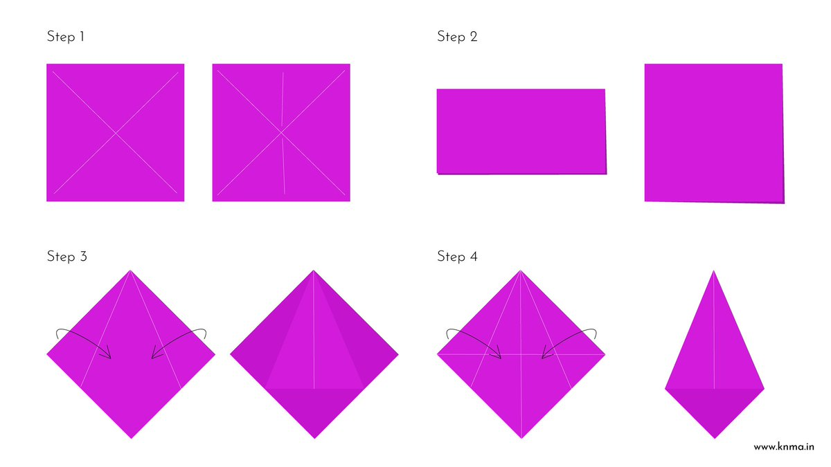 All the steps to making your own origami Dino!