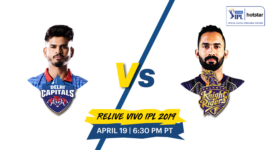 Make your Sunday a Super Sunday!  Relive a nail biting fixture that went down to a super over in #DCvKKR from #VIVOIPL2019!   🗓April 19 | ⏰ 6.30 PM | #ThisClashThatYear https://t.co/9EkiGnxp3b