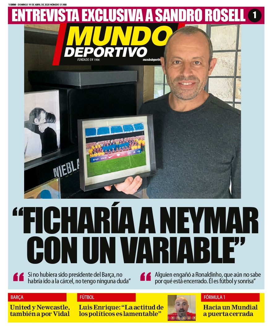 Mundo deportivo - Entreview with Sandro Rosell
