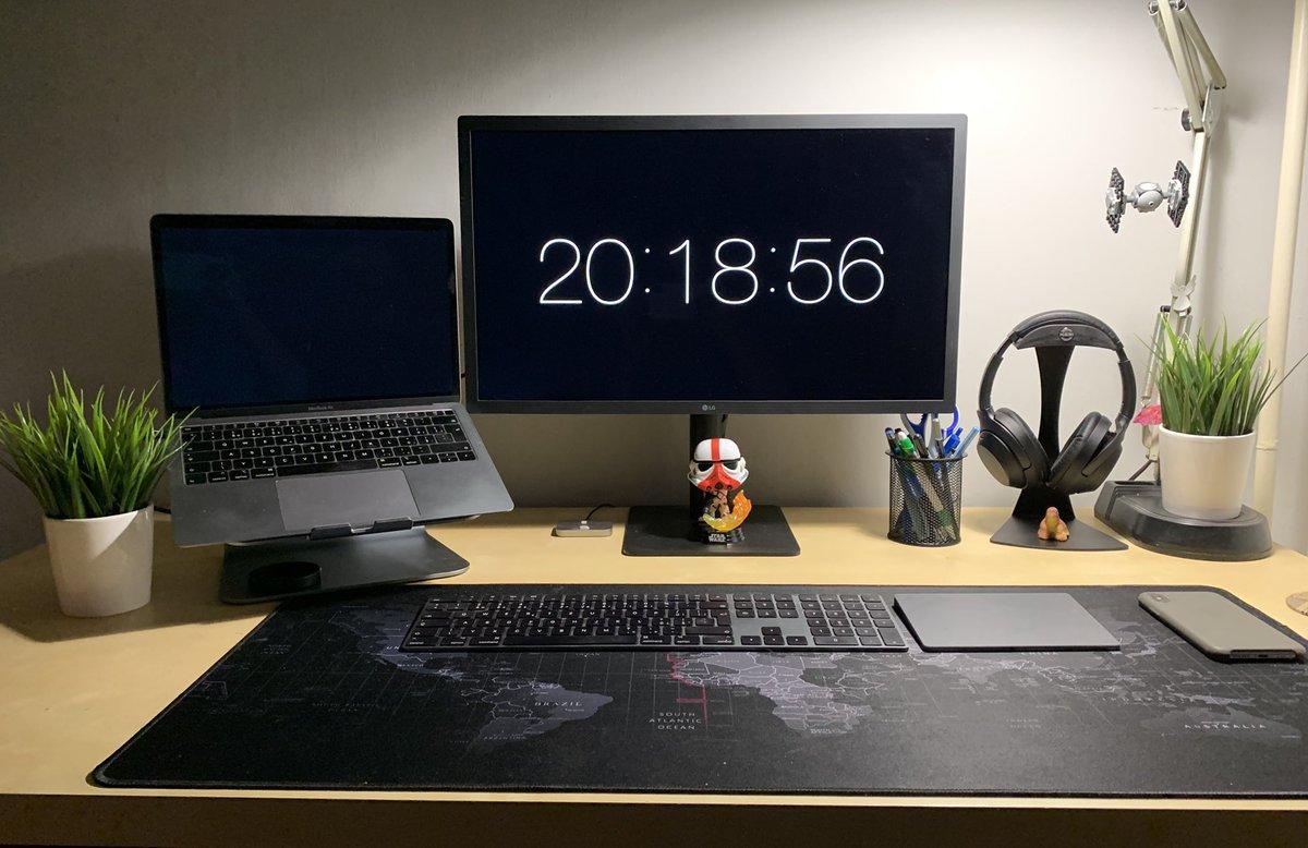 My WFH Mac setup. I call it Fifty shades of space gray #workspace #macsetup #wfhpic.twitter.com/53OHPT0XOm