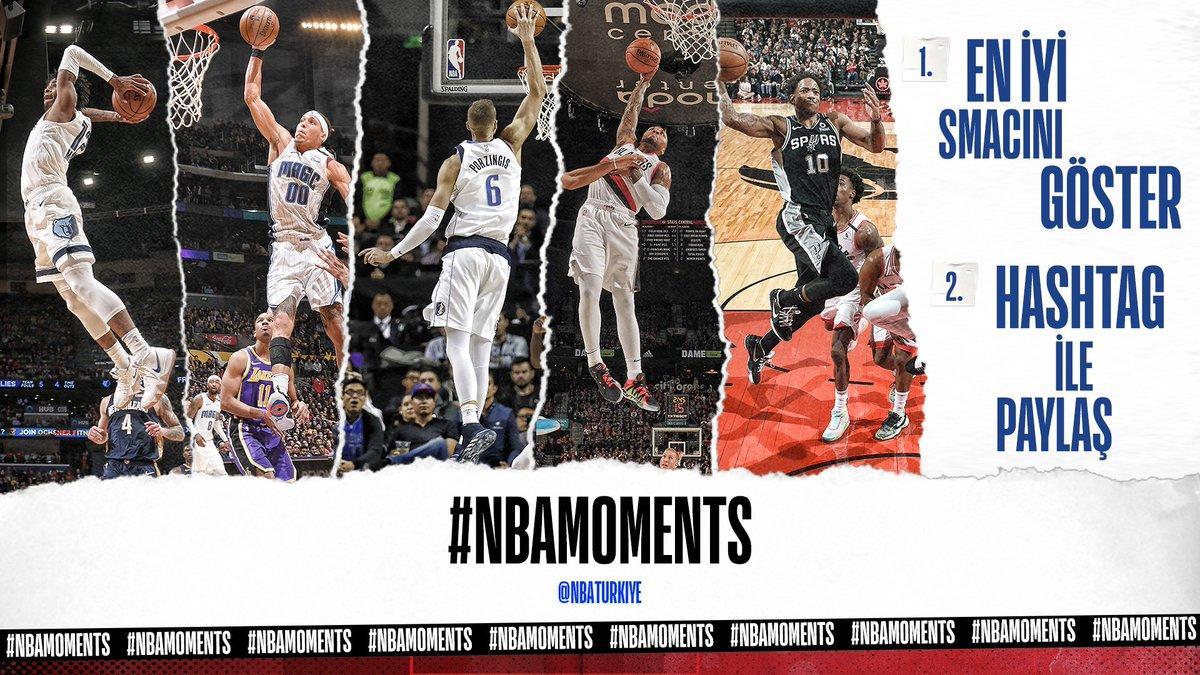 SMACINI PAYLAŞ ➡️ RETWEET'İ KAP!  #NBAMoments hashtag'iyle paylaşacağınız smaç videolarınızı paylaşıyoruz!   #EvdeKal | #NBATogether https://t.co/kbjFKy73KJ