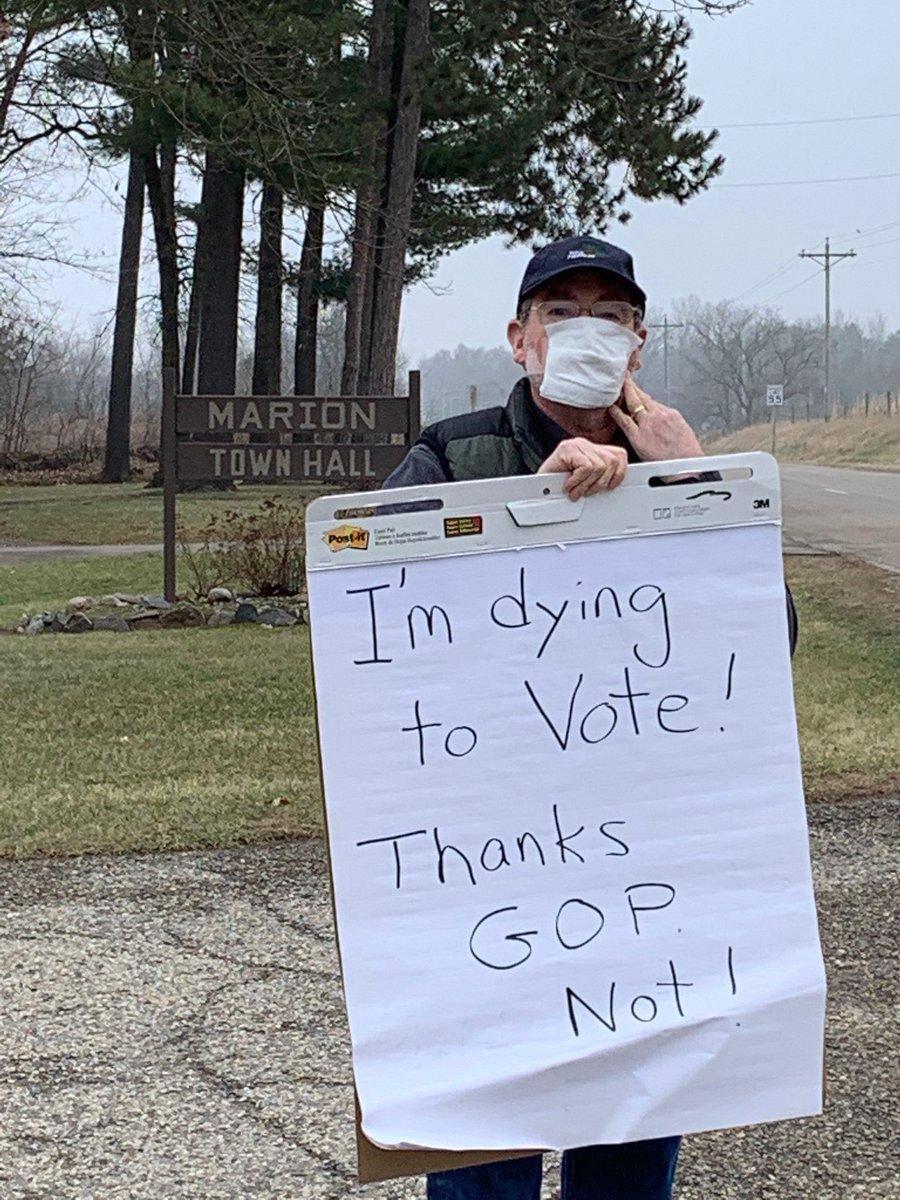 Wisconsin. #PandemicElection Day April 7, 2020  #CoronavirusPandemic #PostponeWisconsin via @JamesHickey_MHS<br>http://pic.twitter.com/eIg2f9w9WK