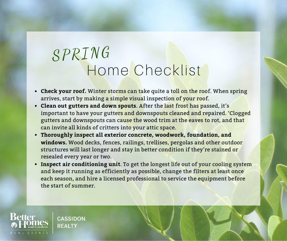Keep your home in tip top shape #springhomemaintenance #homechecklist #hellospring #socialdistancingpic.twitter.com/7qhsODuKmq