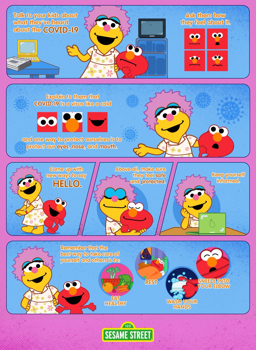 """Sesame Street in Communities on Twitter: """"Eat fruits and veggies, get lots  of rest, wash your hands – Elmo and his mommy are reviewing all the ways we  can stay healthy together! #"""