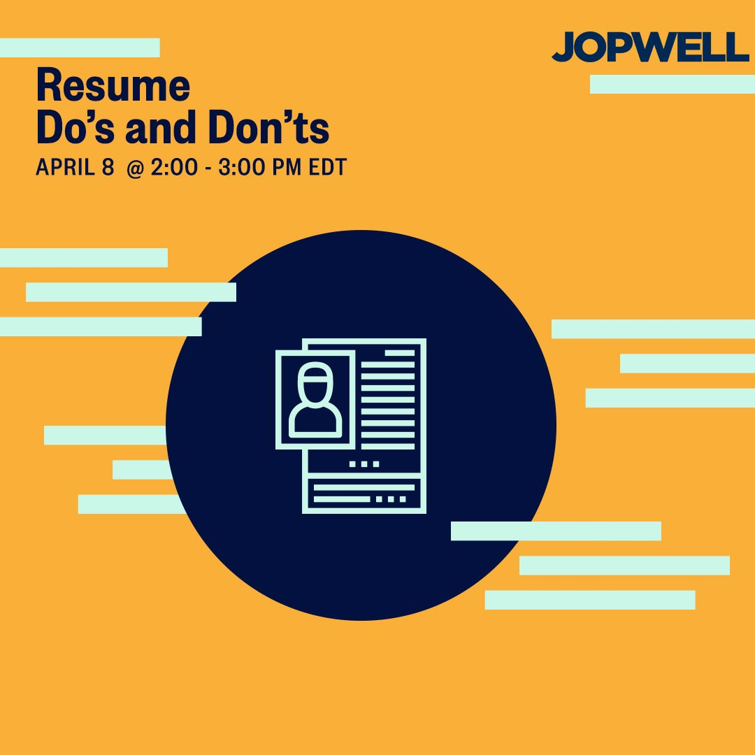 Jopwell On Twitter We Re Talking Resume Do S And Don Ts