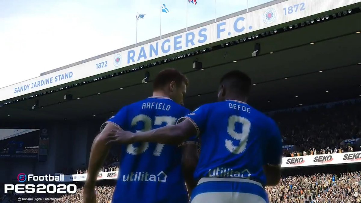 👉 Your chance to win a signed Rangers top & some goodies from @KonamiUK.  🎮 Jump on @officialpes Free-Kick training and try beat the score of former PES Champion @RobbieDeBoer14.  Follow @RangersFC & @RobbieDeBoer14 & post a photo of your score to try and win! #eFootballPES2020