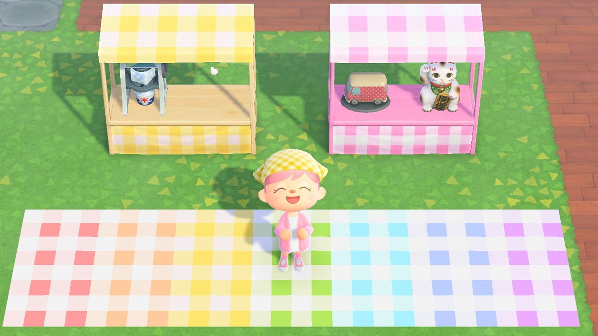 Mae On Twitter I Made Gingham Patterns To Be Used As A Picnic Blanket It Also Goes Great With Stalls Codes Are In The Thread Acnh Acnhdesign Https T Co Rfyiajtagf
