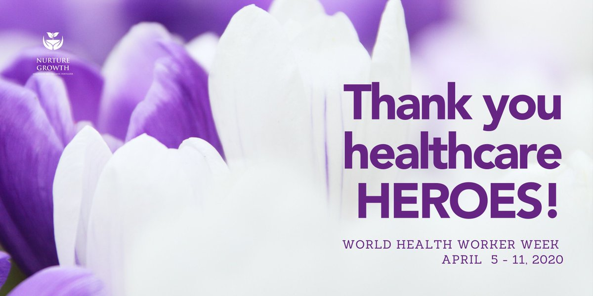 Nurture Growth would like to thank all health care professionals for saving lives and keeping us safe!  You are our HEROES! #TogetherStronger #StrongerTogether #westandwithyoupic.twitter.com/2WCvCFFZpC