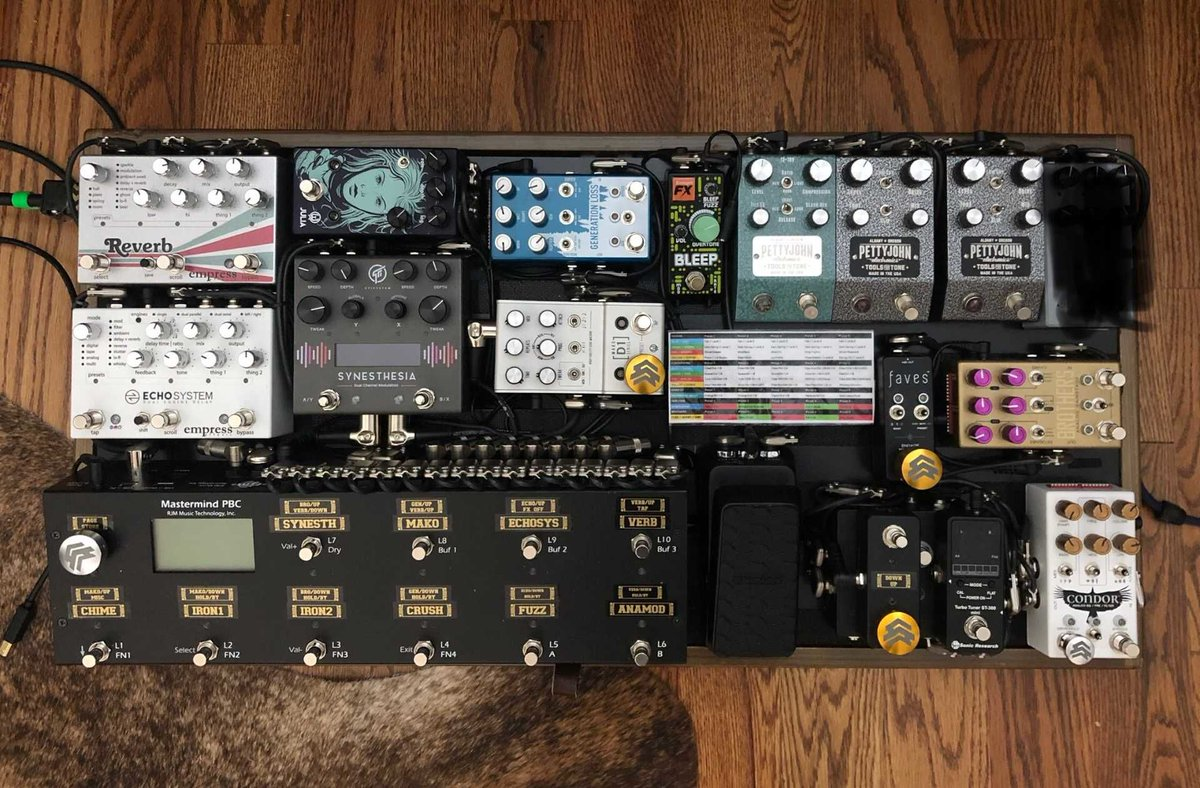 Join us on RigShare – the music gear community! https://rigshare.com — We are featuring gear every day. Today's gear feature is from  @leebaker1  — #rigshare #rigrundown #geartalk #gearnerds #tonemob #pedalboard #pedalboards #boutiquepedals #toneheaven #guitarist #guitaristspic.twitter.com/8QxJVUoEW5