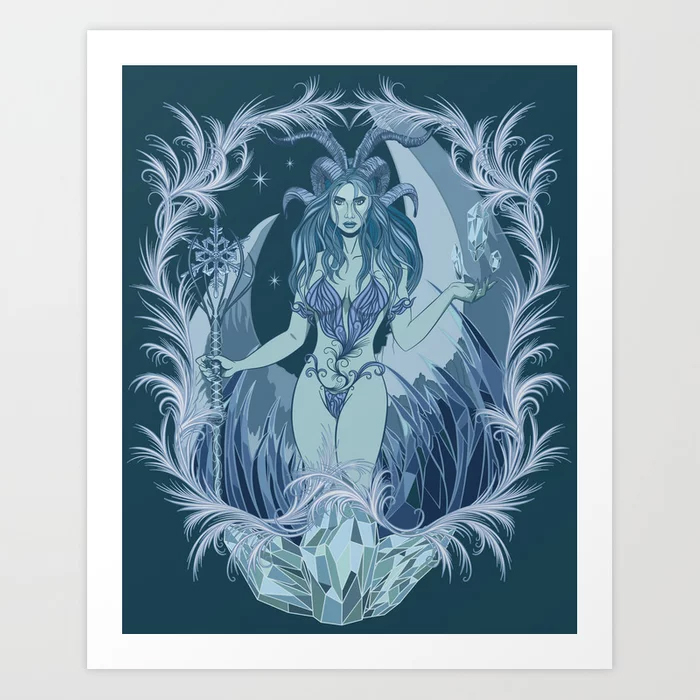 30% Off #Homedecor & #WallArt today #gifts #giftideas #prints #artprints #posters #rugs #curtains #blankets #pillows  Design Ice lady #guardian #winter #fantasy #PCMdesigner #society6 #discounts My shop: