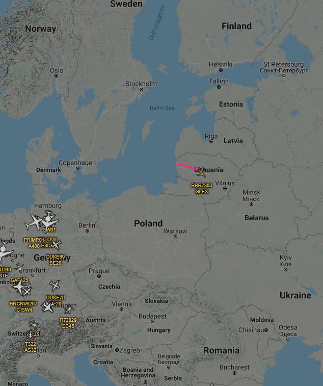 RAF with eyes on Kaliningrad  Royal Air Force R.1 Sentinelpic.twitter.com/dXKIt4N8k9