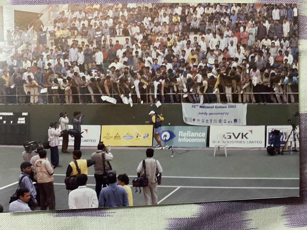 Sania Mirza craze back then in 2002. It was national games and only Sania Mirza's matches were brimming with crowd. Was a huge fan and with great difficulty secured an autograph from her! Wonder if her autograph is still the same :) @MirzaSania