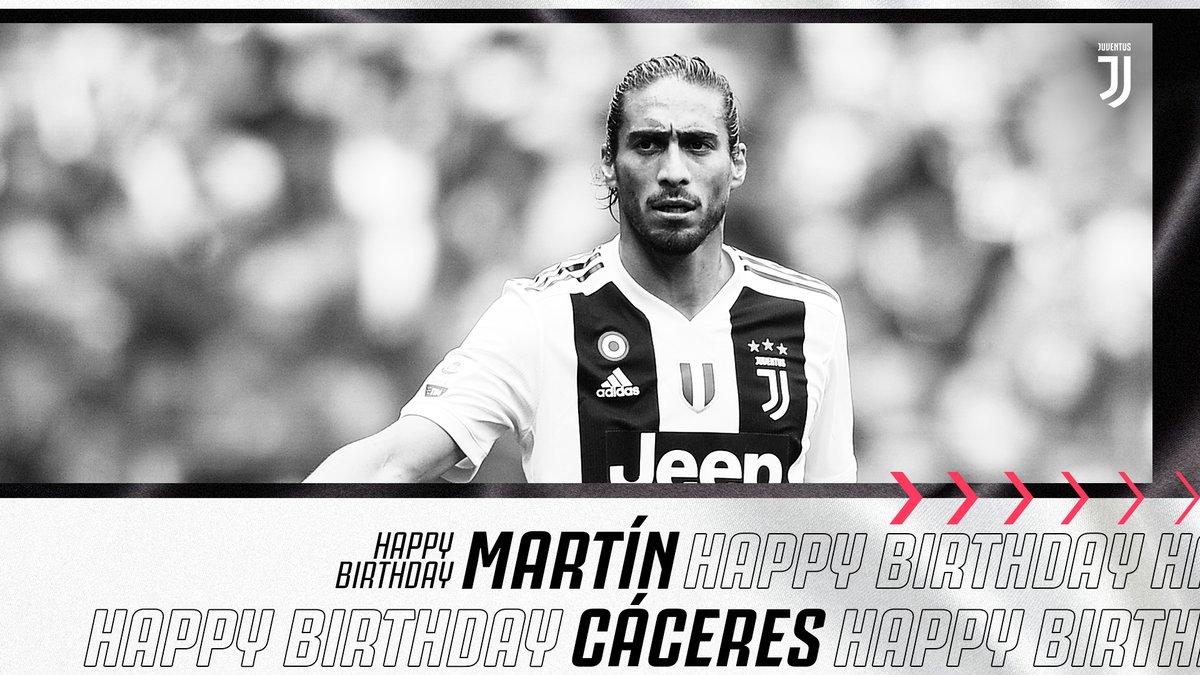 🎊 Feliz aniversário de 33 anos para o seis vezes vencedor do Scudetto, Martin Caceres! 🎂 #ForzaJuve