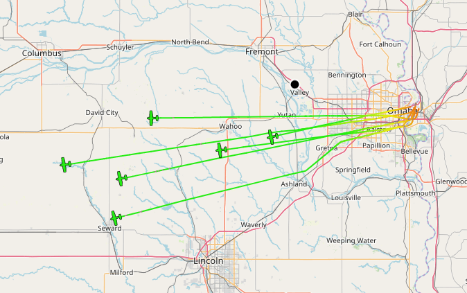 .@FedEx making its daily runs to the rest of Nebraska from Omaha #adsb pic.twitter.com/1FOsp0v77o