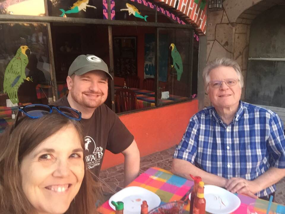 With Our Son James at Isla Cazumel Restaurant on Chapala Malecon ~pic.twitter.com/RJTsXf52L9