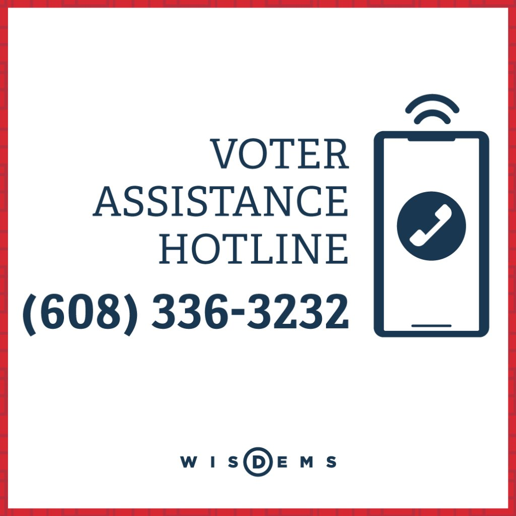 So many people in Wisconsin are trying to figure out how to vote safely today. We have a hotline for that. 608-336-3232