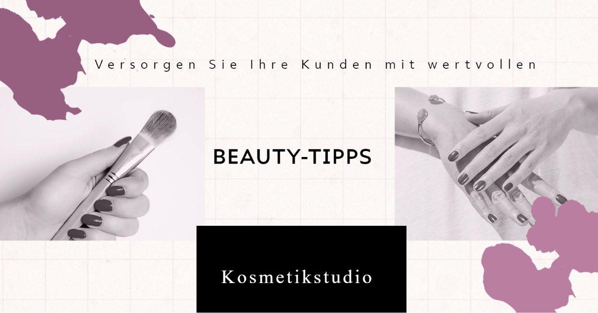 Sie haben ein Kosmetikstudio? Halten Sie Ihre #Kunden mit wertvolle Beauty-Tipps auf dem Laufenden, trotz #Corona-Krise. Geben Sie Tipps zu #Kosmetik, #Enthaarung, #Mircoblading #Wimpernverlängerung, #Makeup oder #Nägel. Ihre Kunden werden sich freuen. 🥰