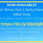 Image for the Tweet beginning: Illinois #earlyintervention Live Video Visits