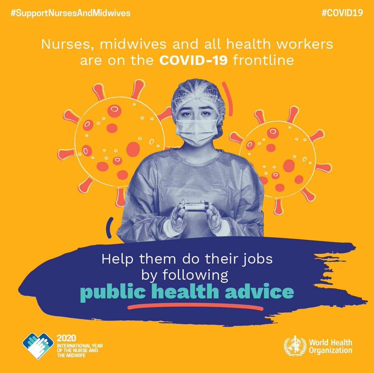 Follow public health guidelines: it's a simple message that makes a big impact. #WorldHealthDay