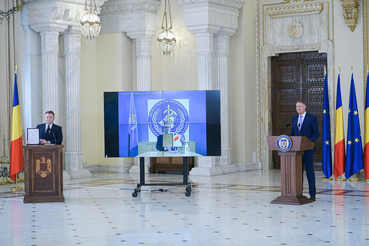 We mark this year's #WorldHealthDay by signing, in a virtual format, a new Biennial Collaborative Agreement between  @WHO_Europe and Romania's Ministry of Health. The signing of this Agreement leads the way for future cooperation and reconfirms our solid partnership. https://t.co/WPorvBoz5h