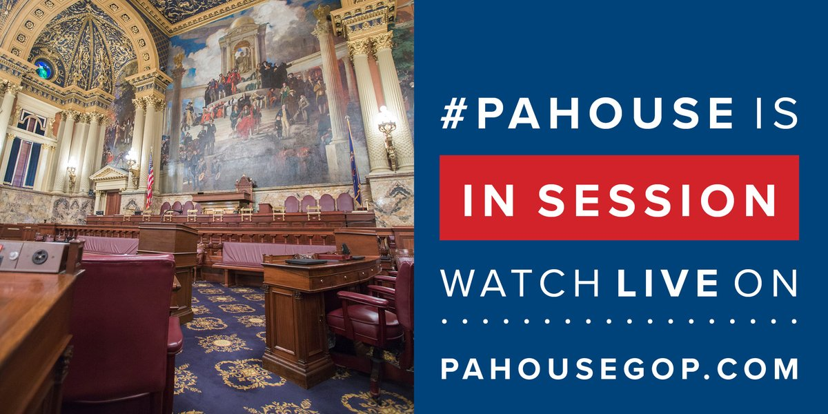 The #PAHouse is now in session. Many members are attending via virtual connection. 📺 PAHouseGOP.com/livestreams