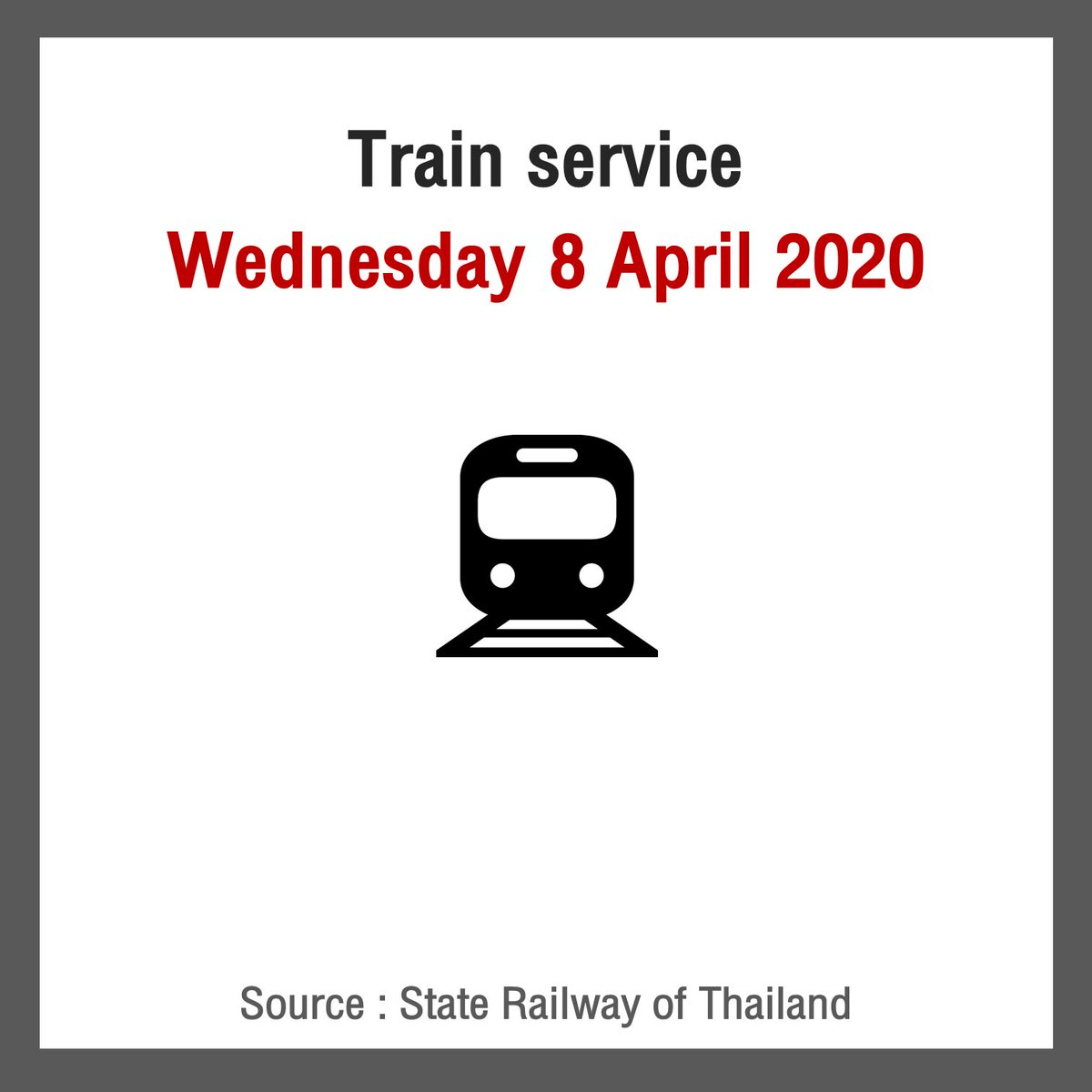 The train service in #Thailand has been reduced dramatically over the last few weeks. They have gone from 236 trains to only 52. The State Railway of Thailand has sent me the timetable of the new service from 8 April onwards.   Northern Line & Northeastern Line pic.twitter.com/exCridW92Q
