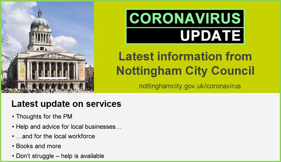 There's help available for local workforce and businesses, says City Council Leader @CllrDavidMellen in the latest #Coronavirus update 👇 content.govdelivery.com/accounts/UKNCC…