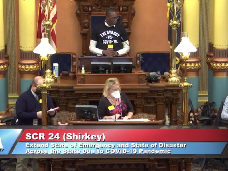 NEW: Michigan Senate OKs extending #coronavirus emergency declaration by 23 days vs. 70 days requested by @GovWhitmer   http://ow.ly/fcdP50z7K1A