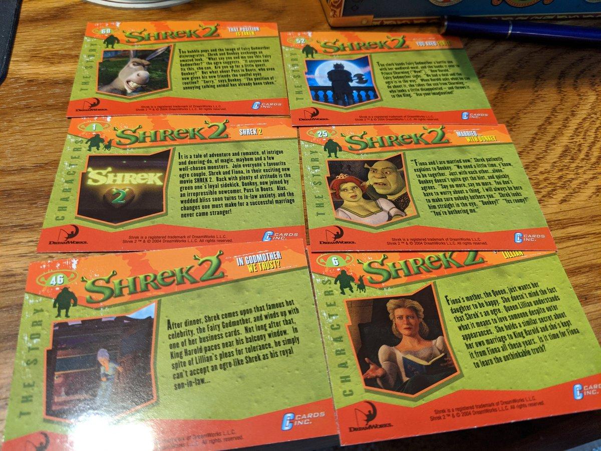 Spooky Boyks On Twitter Alright Twitter Let S Open A Pack Of Shrek 2 Trading Cards