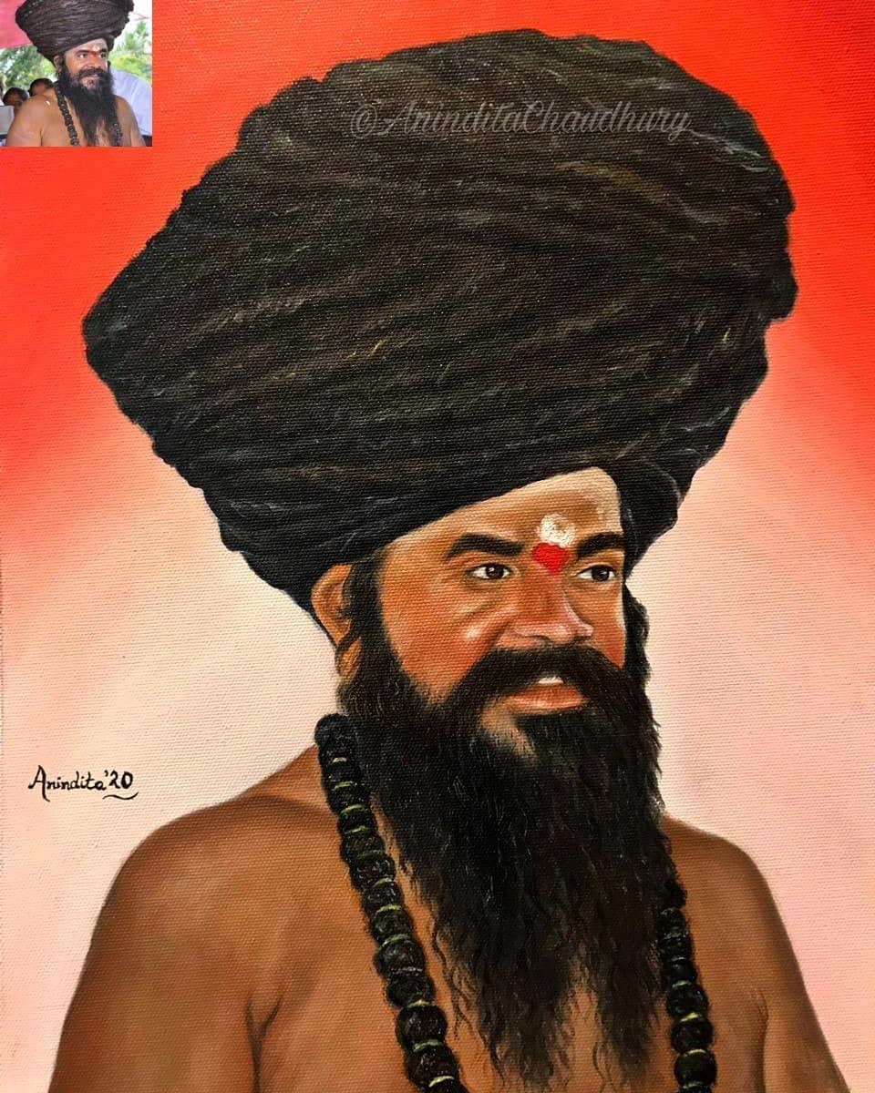 My painting for #dharmapuram_adheenam Mutt (#AsiasBiggestMutt) #TamilNadu #OilPainting #myartwork #sadhu #Portrait  #realism #artcollective #masterpiece  #proartist  #artinspiration  #artworkinstudio  #artinsanely #artattracts_india #originalartwork  #realisticdrawing  #artwork pic.twitter.com/mu5fiYQqow