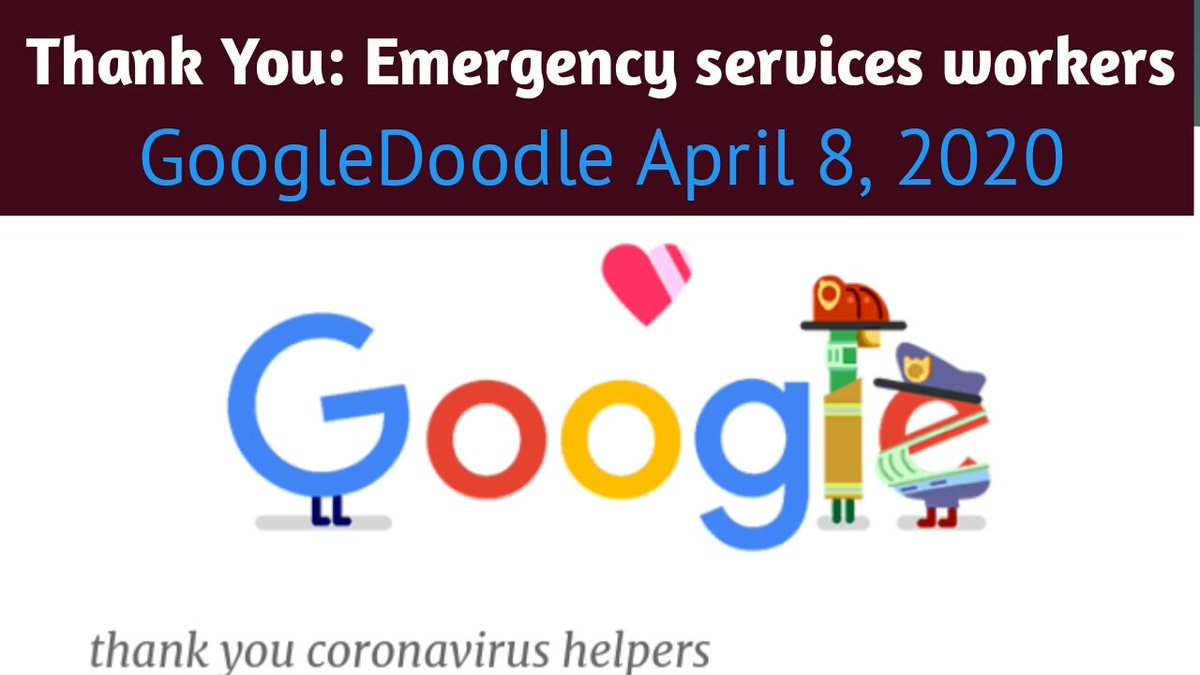 To all emergency services workers, thank you. Watch:https://youtu.be/aKCQ_30QGOg @YouTube  Today's #Google say Thank You: Emergency services workers #thankyouhelpers  via @GoogleDoodles  #ThankYou #ThankfulThursday #ThankYouDoctor #Thankyouheroes