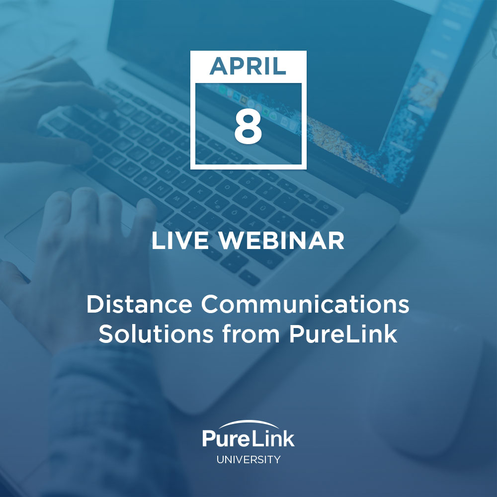 Don't miss our upcoming webinar tomorrow morning to learn how to quickly convert your work and events to online remote operation. Be in the know as we introduce our latest distance communication solutions.   Register at: https://www.purelinkav.com/webinars/ pic.twitter.com/dzuxV7KXtC
