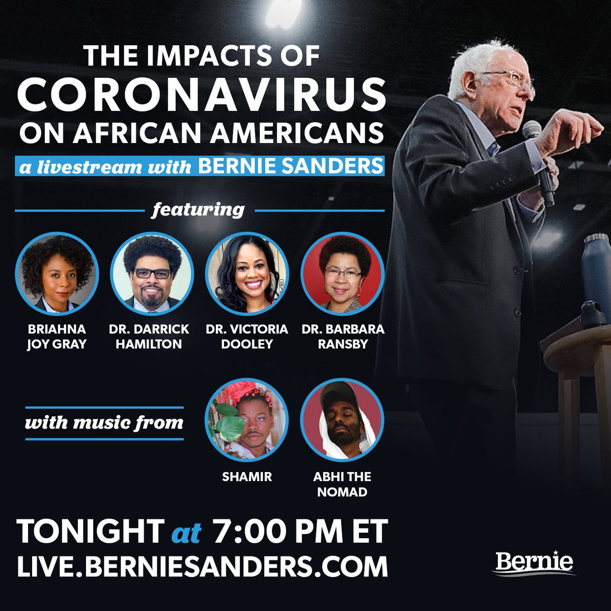 Please check us out at 7 PM EDT tonight discussing the impacts of the cornovirus pandemic on African Americans