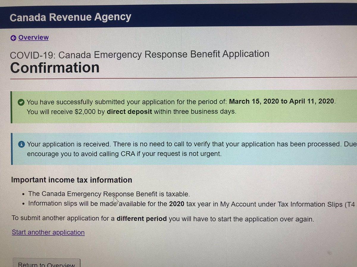Thanks Canada Revenue Agency! #Canada #COVID19 #servicecanadapic.twitter.com/Yn85btIJy4