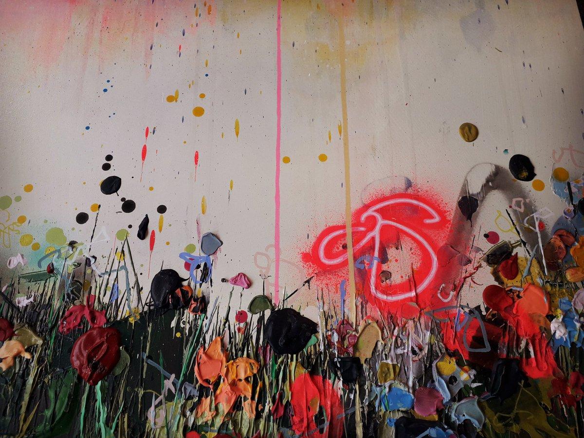 Glowing in the spring sun...  . . . #art #painting #originalart #artist #studio #landscapeart #spraypaintart #textureart #floral #flowers #artbuyer #artcollector #interiorart #AffordableArt #northwestartist #chester #leeherring #artgallery #chesterartist #abstractartpic.twitter.com/ABWRE9Paro