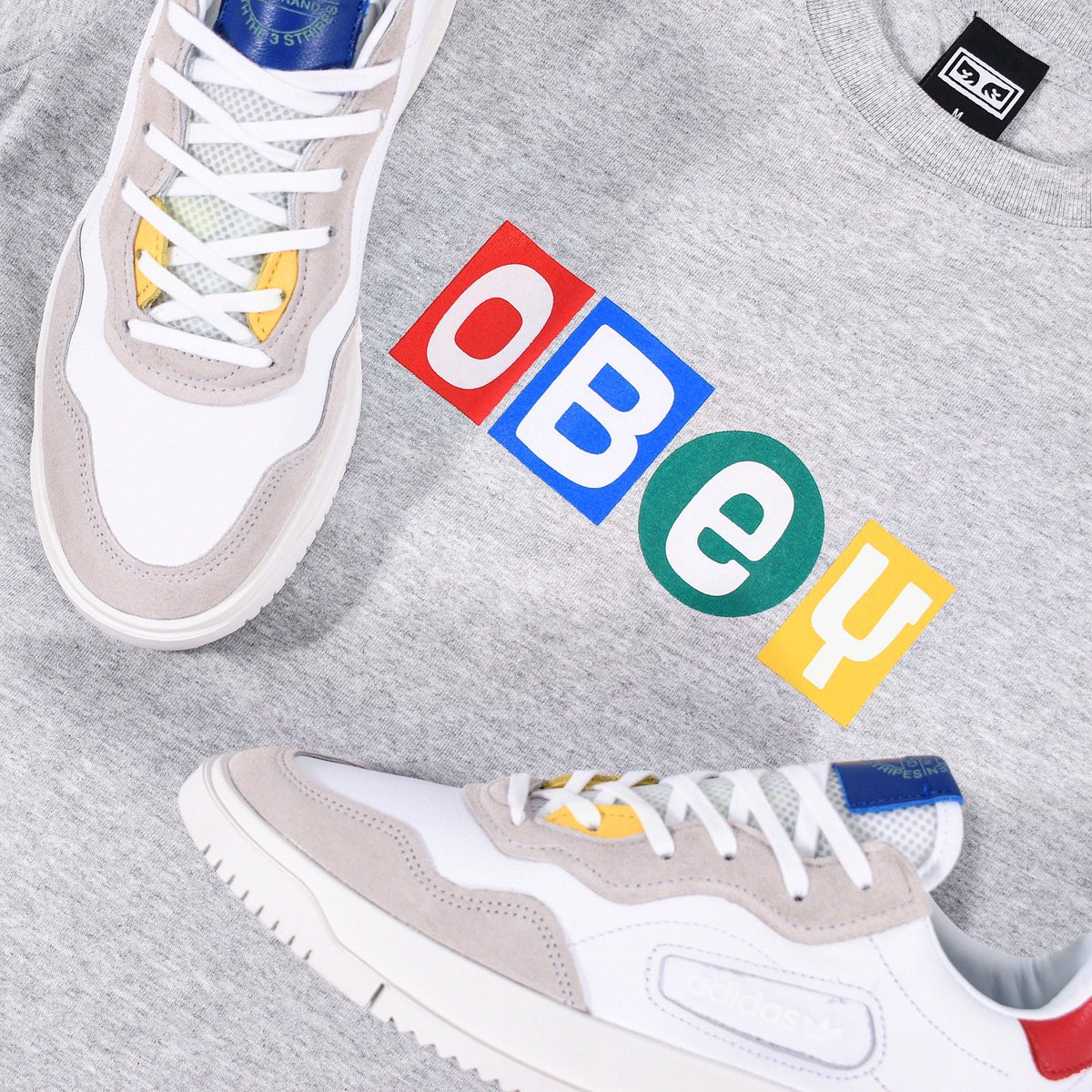 Attic Clothing On Twitter It A All About The Primary Colours With This Subtle Combo From Last Week The Adidasoriginals Sc Premiere And Obeyclothing Big Shot Tee Both Of Which Currently Have 20
