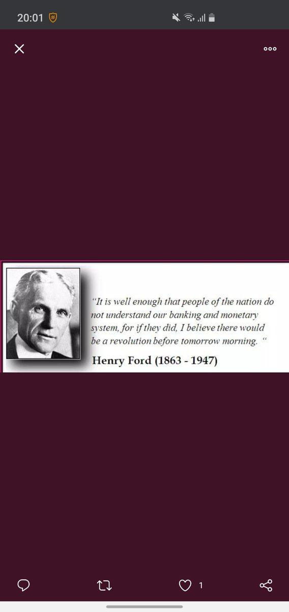 Dit zegt #HenryFord een aantal jaartjes geleden over het #monetair #systeem 2020,elke seconde komt er $50.000 boven op de staatsschuld je leest het goed per seconden wat een totaal maakt van $22.000.000.000.000 #WTFOCKDOWN https://t.co/cfLSusApuy