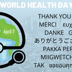 Image for the Tweet beginning: Today is #WorldHealthDay and we