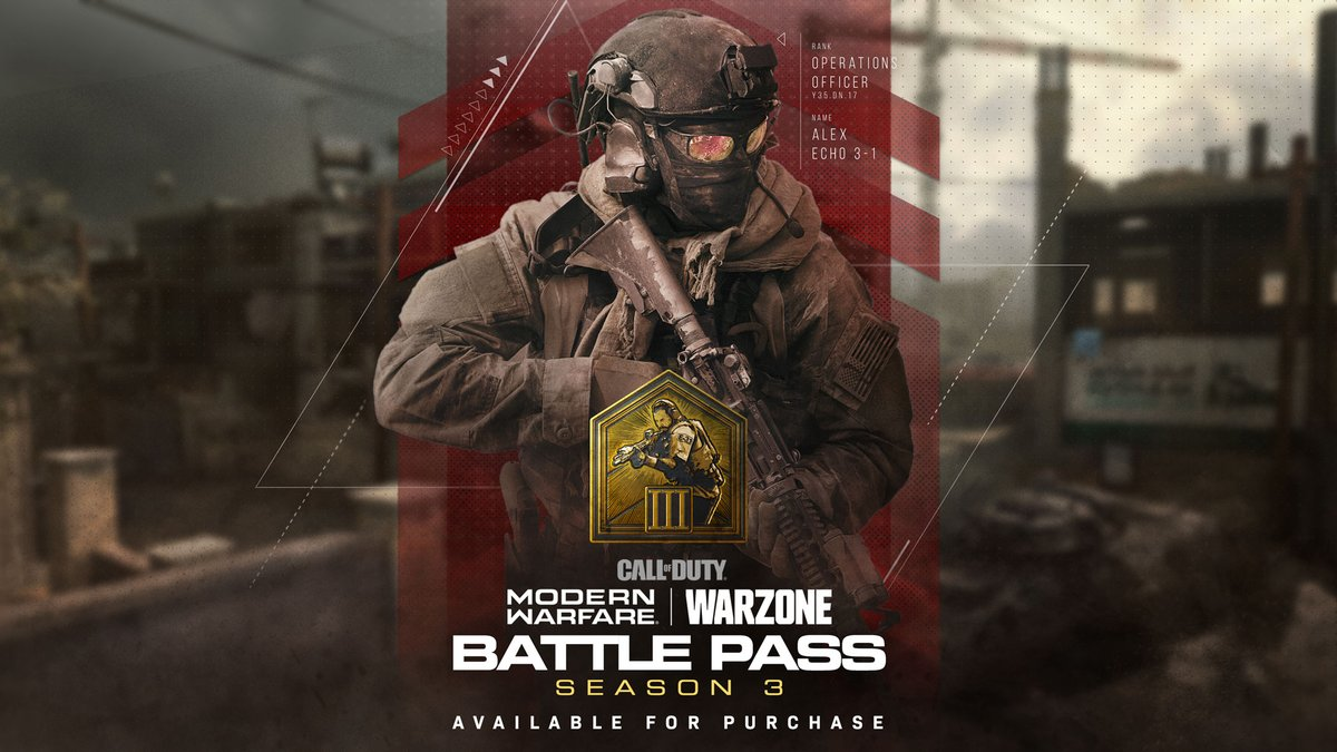 This is the final full week of Season 3 in Call of Duty: Modern Warfare and Call of Duty: Warzone!  Be sure to finish up your Season 3 Battle Pass before the season ends! https://t.co/yanL8e5M8Y