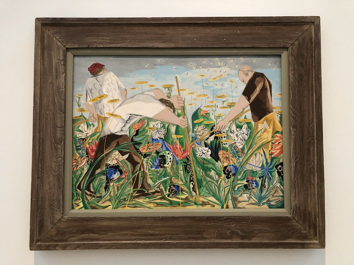 """- Another BEAUTIFUL day in NC... maybe you're working """"In the Garden,"""" like American artist, Jacob Lawrence! Thanks for the #MrsCArtoftheDay @ncartmuseum  What are YOUR thoughts? @EastClaytonElem #talkaboutart #getoutside #hellospring pic.twitter.com/rAd7glZH3f"""