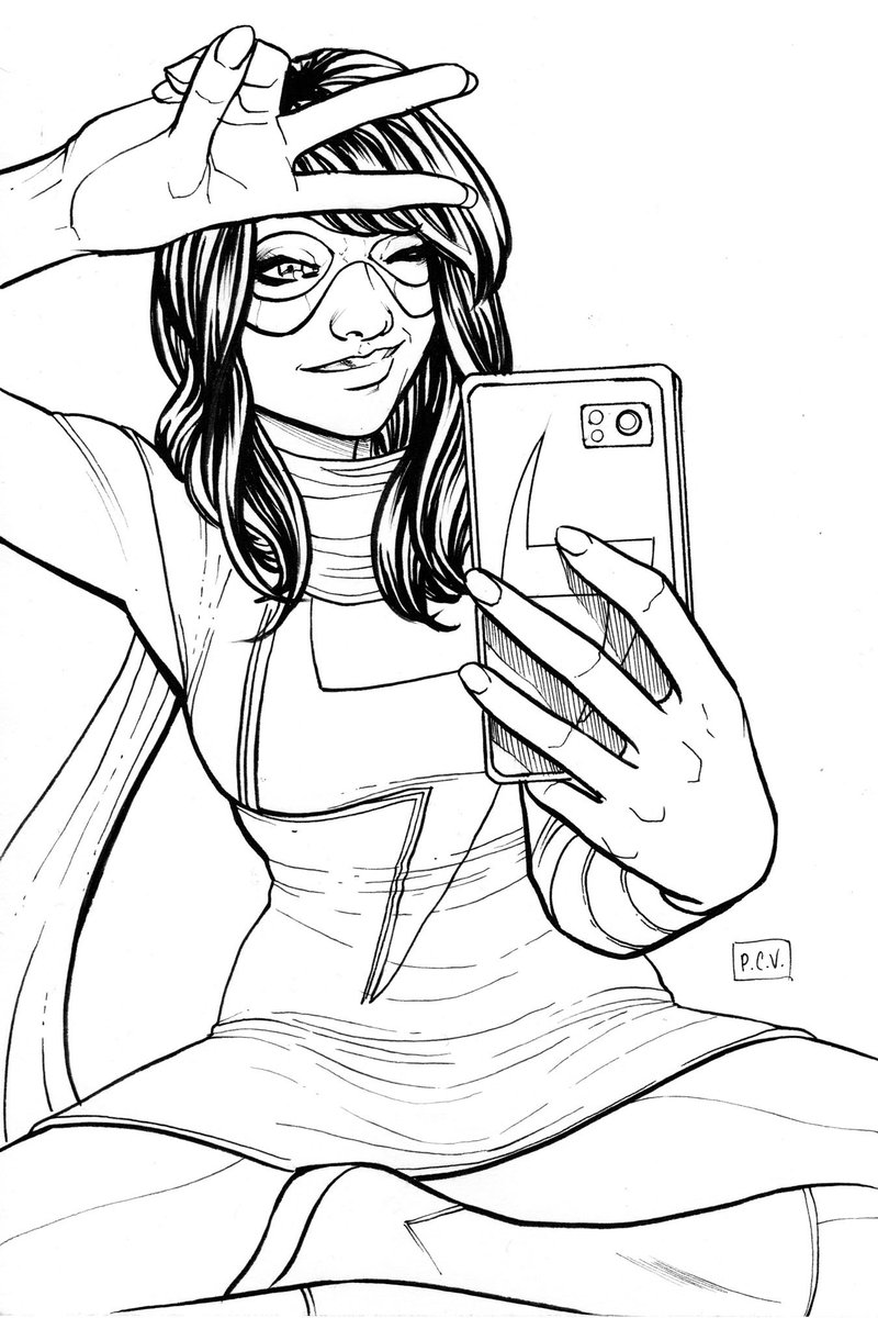 Ms Marvel sketch by @phillipsevy. #teamkamala #artlife #nightnurselovepic.twitter.com/PwMxeQH6Sg