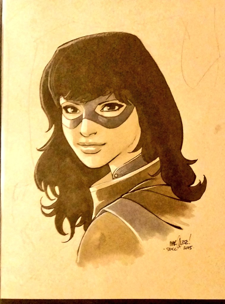 Ms Marvel commission by @DaveMarquez. So lovely.  #teamkamala #artlife #nightnurselovepic.twitter.com/AmV4OpZX9b