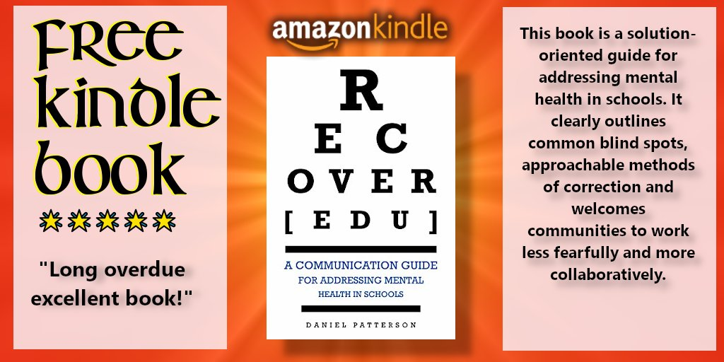 #BookGiveAway #Amazon RECOVER[edu] : A Communication Guide for Addressing Mental Health in Schools  by Daniel Patterson https://amzn.to/2xK5TMm  -Initiates the communicative & collaborative process -Ideal for professional development, teacher education programs & parents @BSPBookspic.twitter.com/gcdbBH3D82
