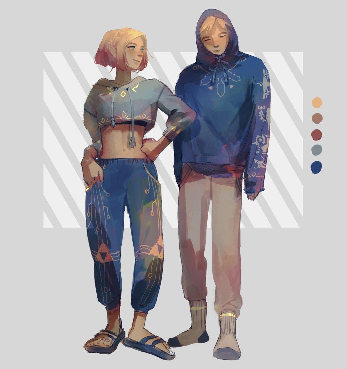 Link + Zelda + Quarantine outfits. Comfort first, fashion also first!! #BOTW #TheLegendofZelda #tloz #ootd #fashion how I love hoodie-egg link... '_>` pic.twitter.com/FuzP8WiDiZ