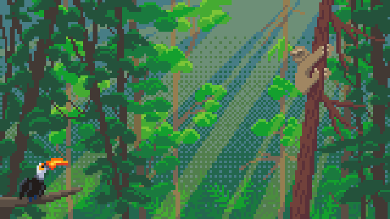 sketchy #rainforest for today's #pixel_dailies  @Pixel_Dailies  #dailyart #pixelart #asepritepic.twitter.com/iNwpVpVeDG